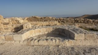 Archaeologists believe that this niche represents the remains of the throne of Herod Antipas. From here, the decision to execute John the Baptist may have been made.