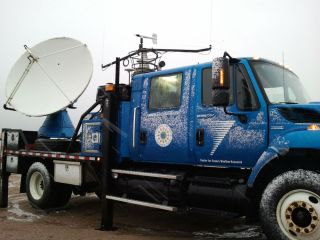 Doppler on Wheels truck used to chase winter storms in Utah