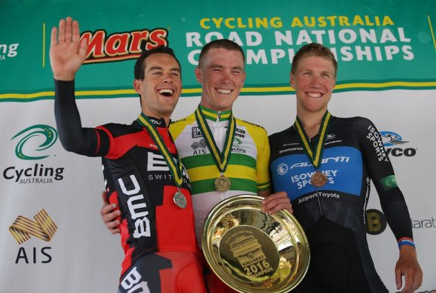 Rohan Dennis wins the 2016 Australian Criterium Championship