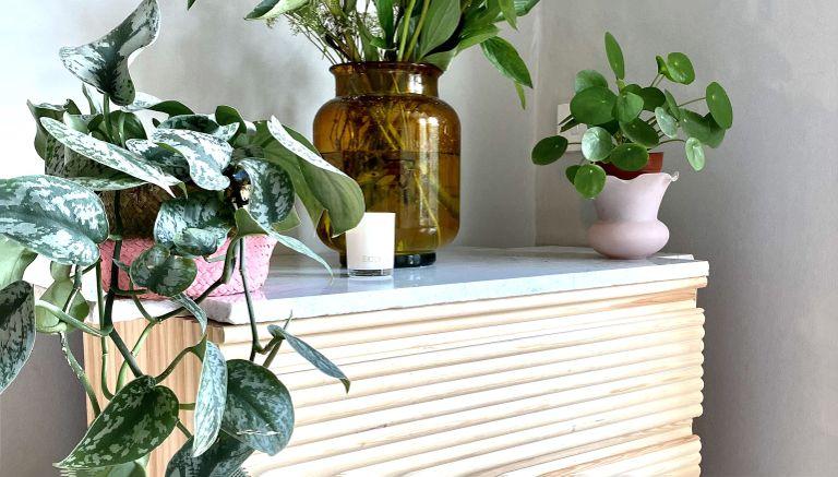IKEA KULLEN hack with plants