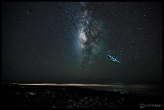 2010 Perseid Meteor over Kauai, HI