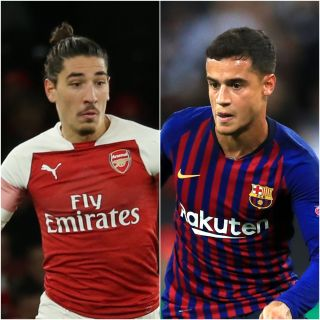 Hector Bellerin and Philippe Coutinho