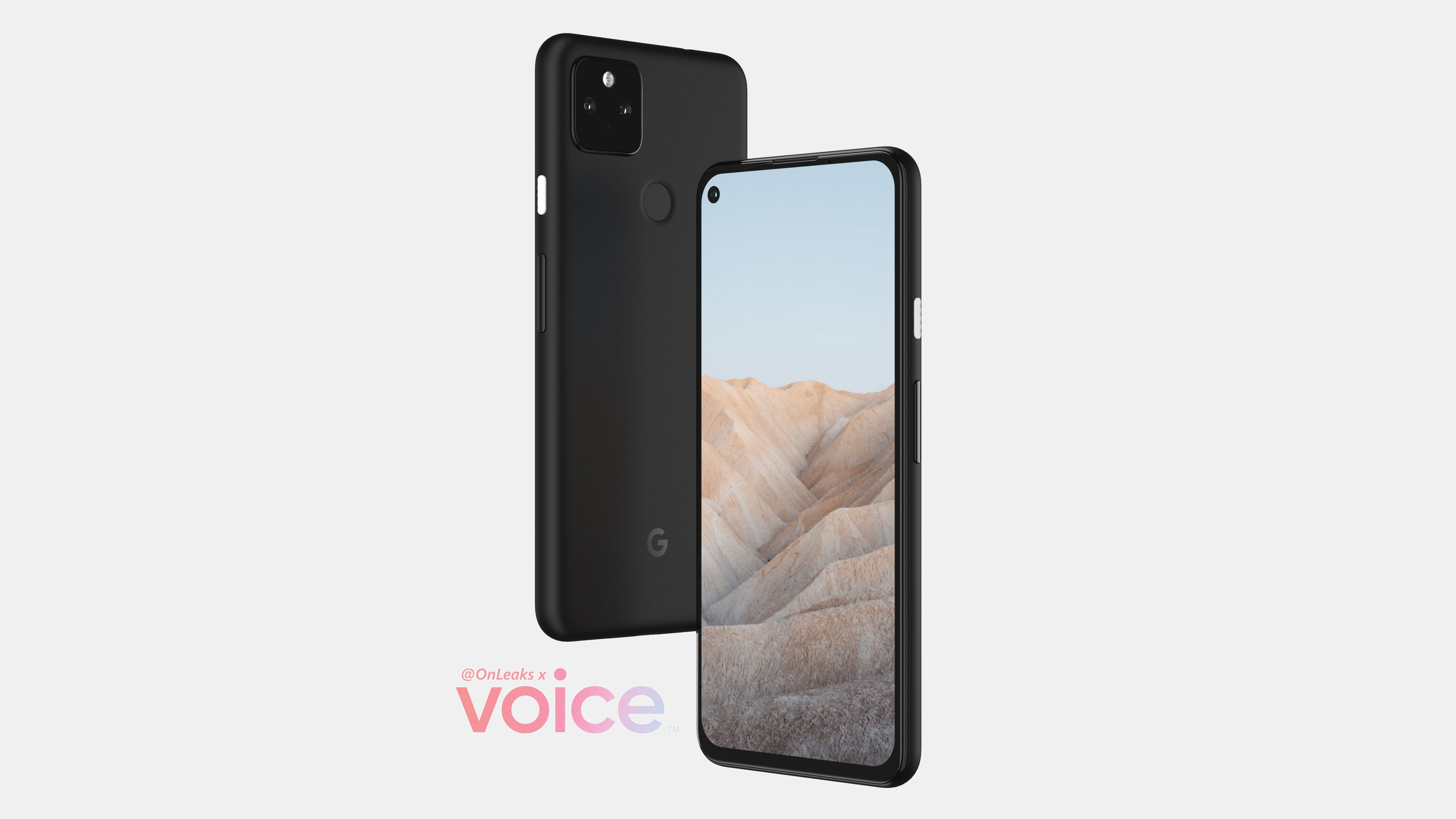 Google Pixel 5a front and back offset