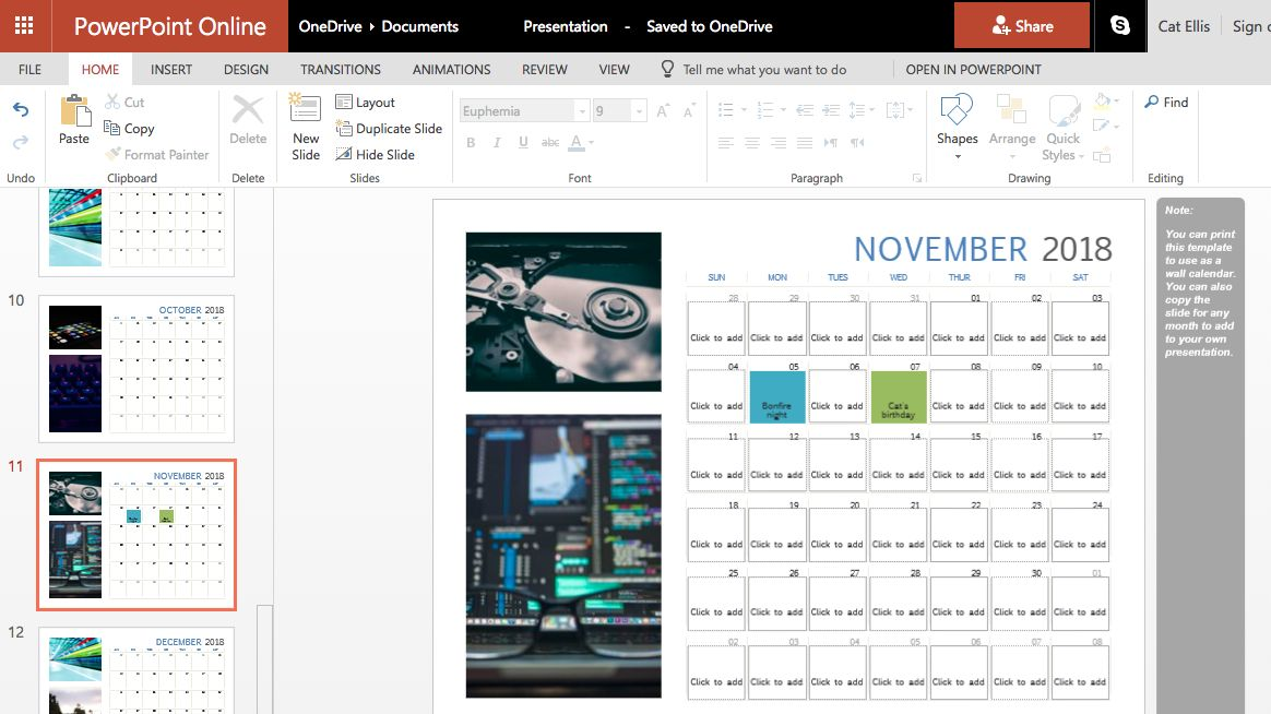 how to make a custom printable calendar