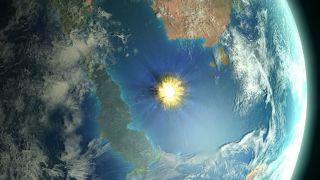 A large asteroid caused the Cretaceous-Paleogene mass extinction.