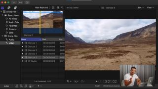 Final Cut Pro tutorials: Screenshot of Final Cut Pro X tutorial by Drone Film Guide