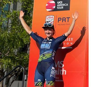 Veronica Ewers racing for TIBCO-Silicon Valley Bank