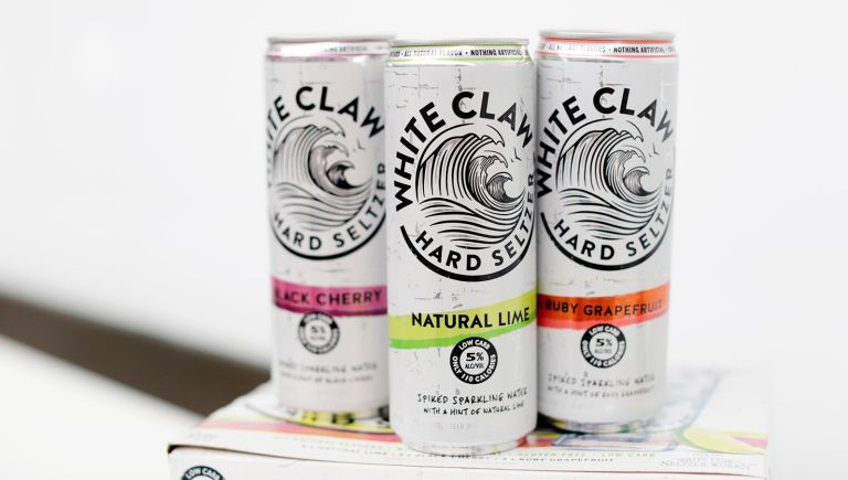 A variety of White Claw Hard Seltzers are seen at the Mike's Hard Lemonade office on Monday, March 27, 2017 in Chicago.