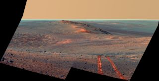 A view of Mars from a NASA rover.