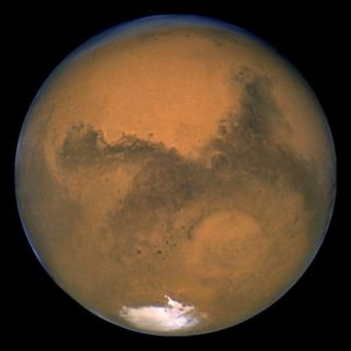 This Hubble Space Telescope image shows Mars.