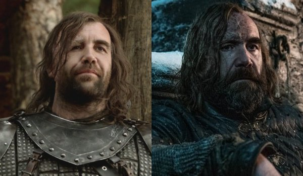 Game of Thrones The Hound Then and Now