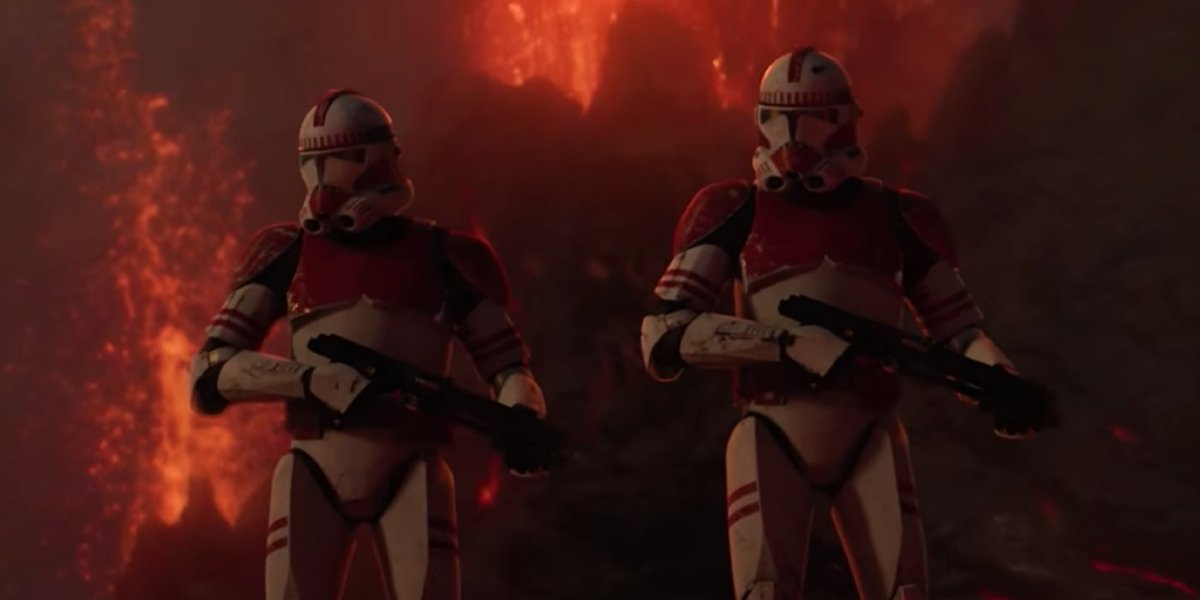Shock troopers reporting for duty in Star Wars: Revenge of the Sith