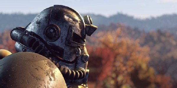 A powersuit in Fallout 76.
