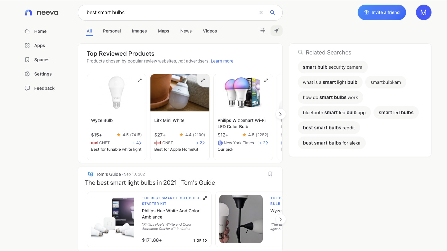 Ecommerce Search Results