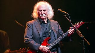 David Crosby performing at Birmingham's Symphony Hall, 2015
