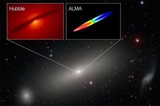 Observations of the supermassive black hole in the center of NGC 1332