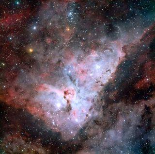 Violent Carina Nebula Seen in Detail