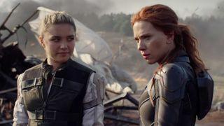 Florence Pugh and Scarlett Johansson in 'Black Widow.'