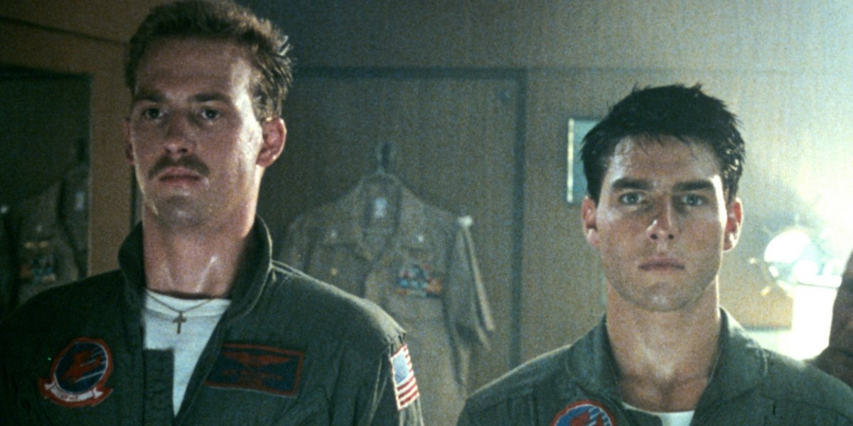 Anthony Edwards and Tom Cruise in the original Top Gun