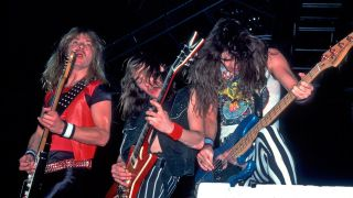 Iron Maiden performing live in 1983