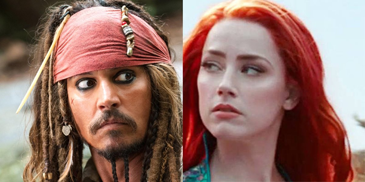 Johnny Depp Pirates of the Caribbean, Amber Heard Aquaman