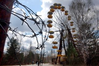 A scene from the Chernobyl exclusion zone