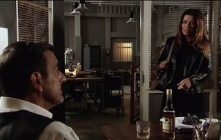Carla Connor discovers Peter is selling his share of the factory to Nigel