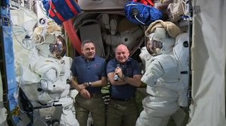 Scott Kelly and Mikhail Kornienko Speak from ISS