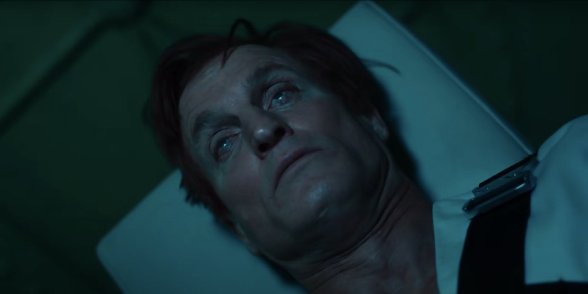 Woody Harrelson starts to transform in Venom Let There Be Carnage.