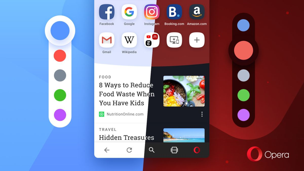 Forget dark mode – Opera for Android offers red, blue, purple and green too