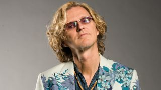 Roine Stolt in a floral jacket