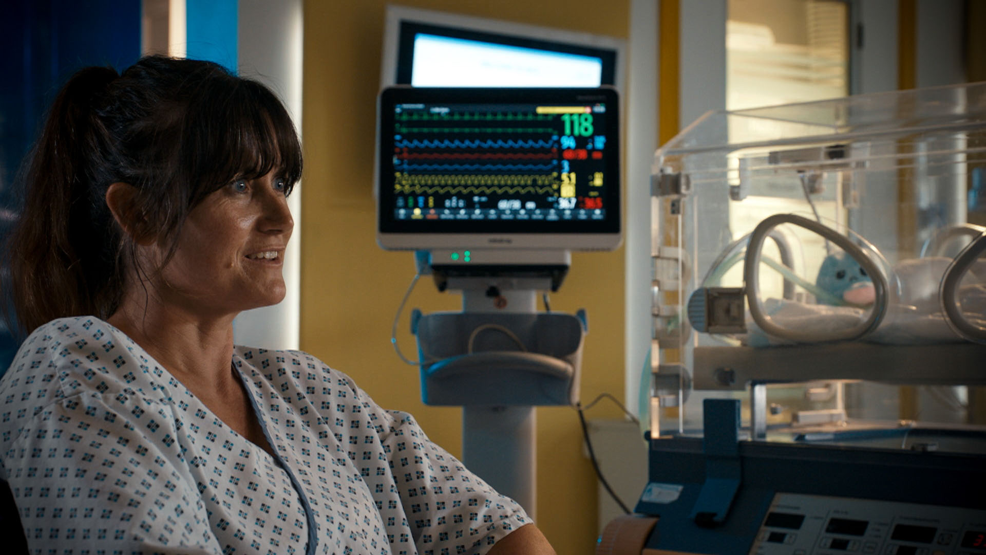Dawn Steele plays Ange in Holby City