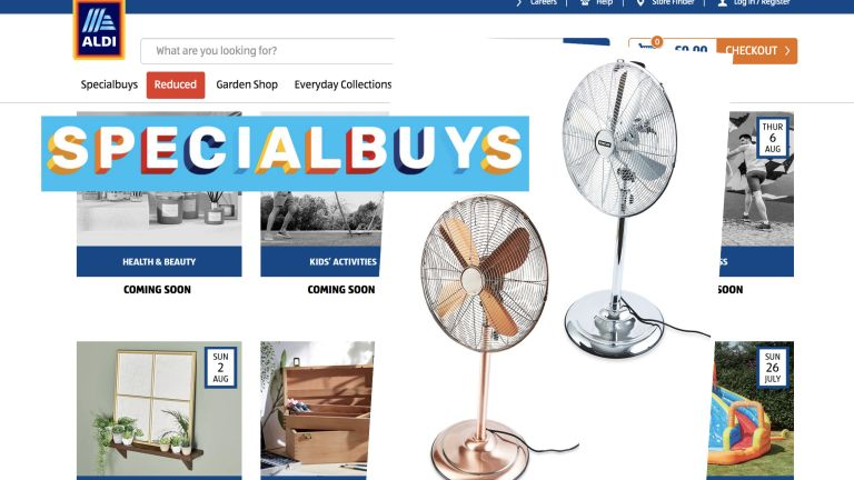 Kirkton house pedastal fan from Aldi Special Buy