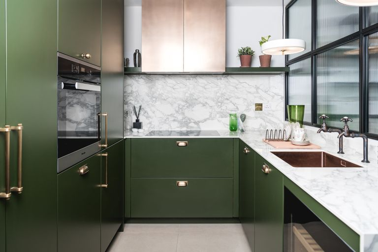 kitchen trends with green kitchen cabinets