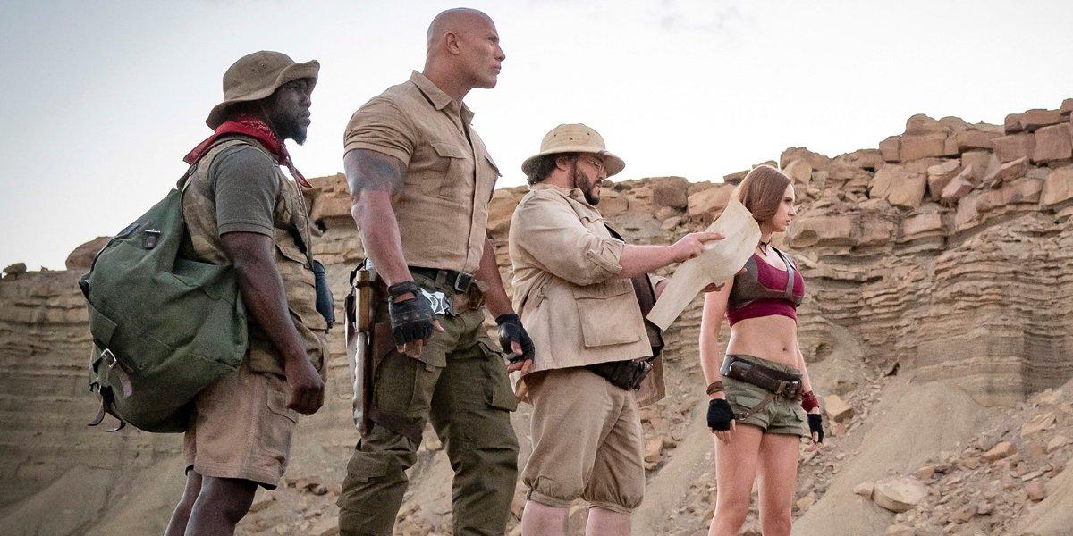 Jumanji The Next Level cast in desert
