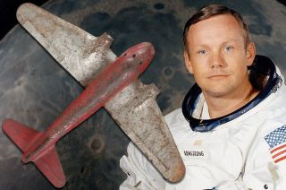 Neil Armstrong and Toy Plane