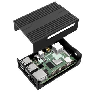 Exploded view of the Pi case