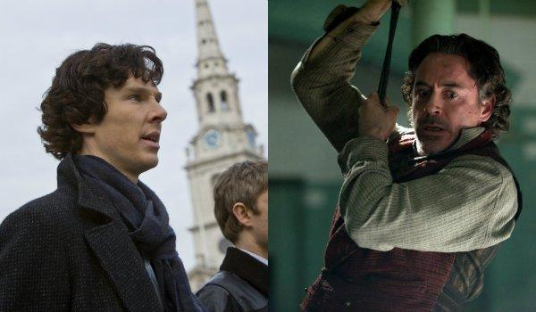 Benedict Cumberbatch Robert Downey Jr Sherlock Holmes
