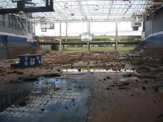 Childress High School Tornado Damage