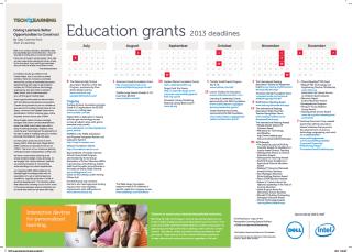Grants Calendar and Directory, 2013-2014