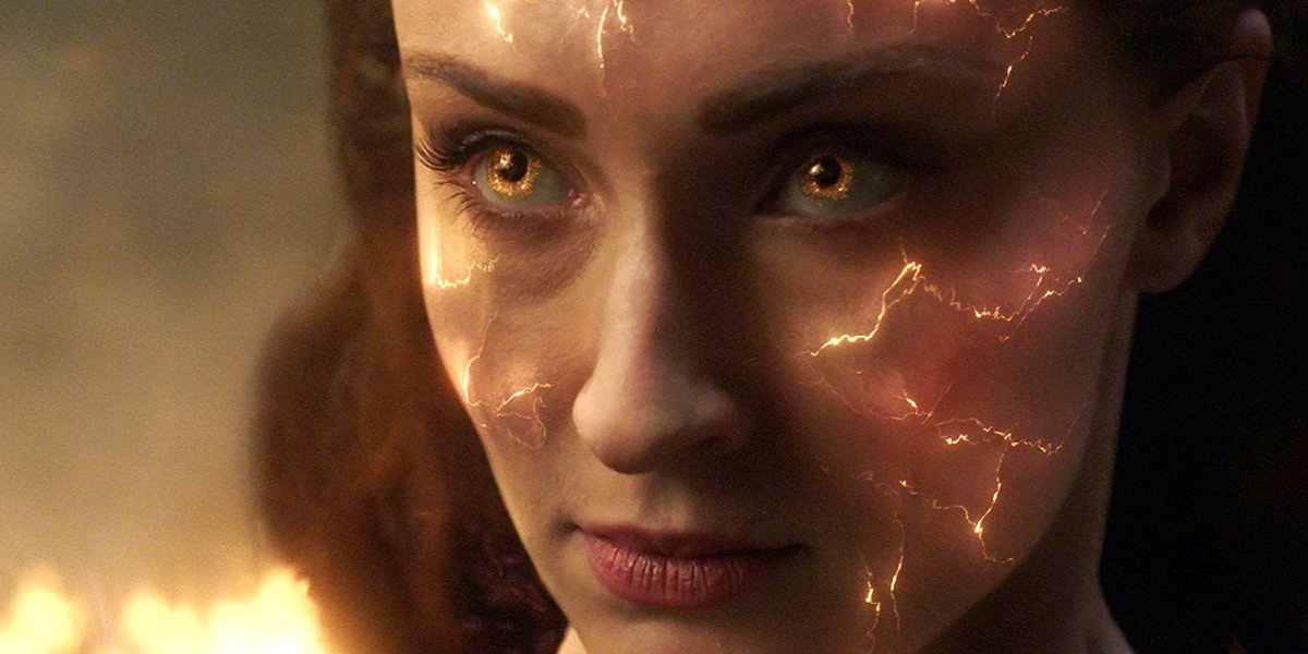 Sophie Turner intense Jean Grey X-Men Dark Phoenix