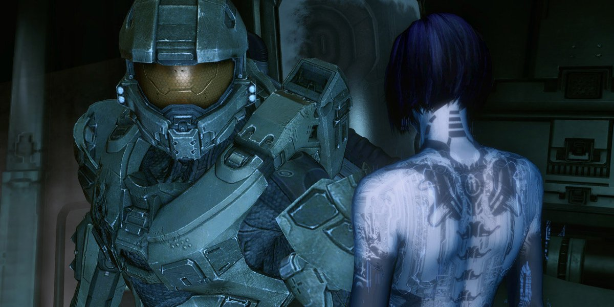 Master Chief and Cortana in Halo 4