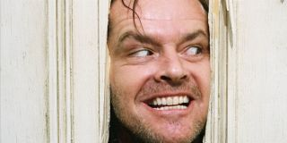 Here's Johnny! Jack Nicholson with his face in the door in The Shining