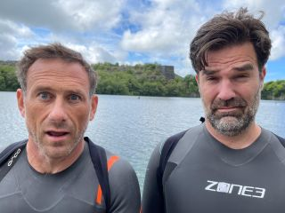Jason Fox with Rob Delaney during Foxy's Channel 4 challenge.