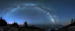 Milky Way Over Acadia National Park