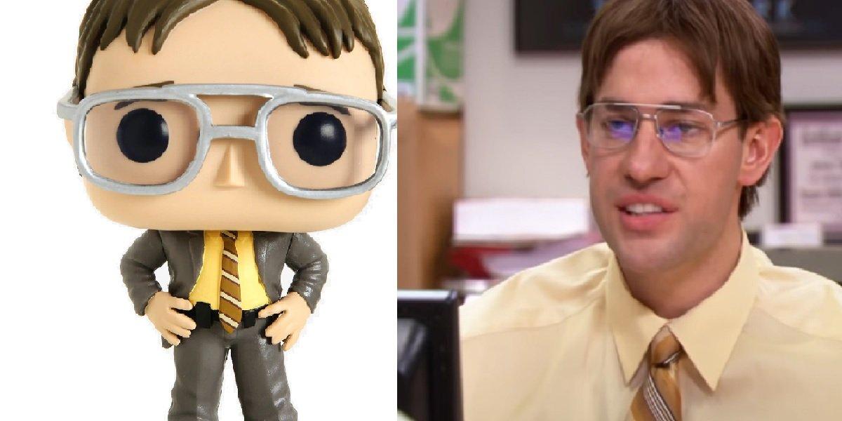 John Krasinski as Jim dressed as Dwight on The Office