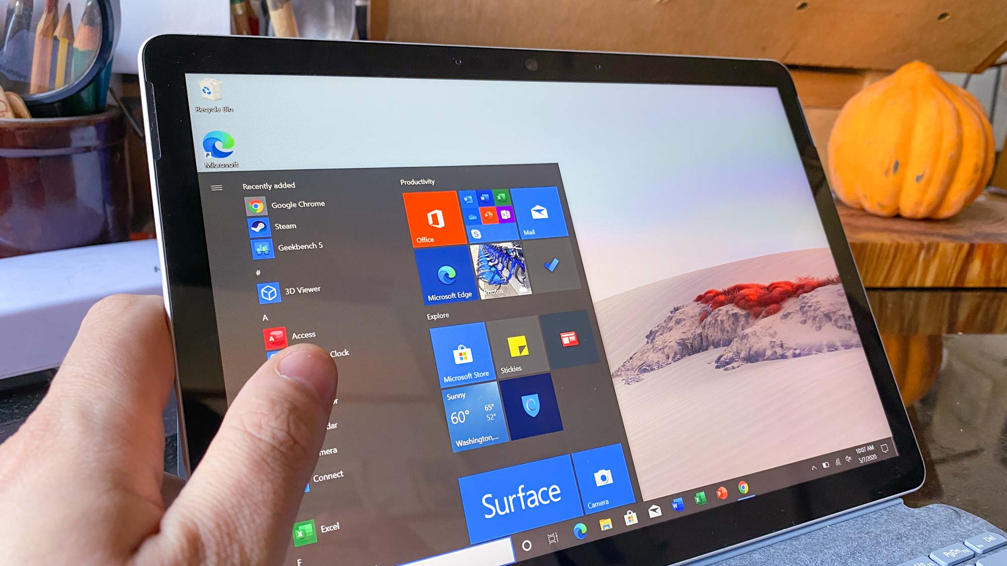 Revisión de Microsoft Surface Go 2 - Windows 10