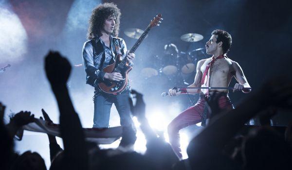 Queen performing in Bohemian Rhapsody