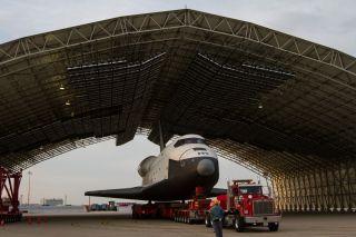 Shuttle Enterprise in Hangar at JFK Airport