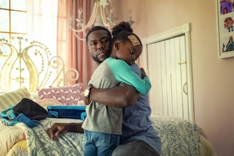 """Kevin Hart and Melody Hurd in """"Fatherhood""""."""
